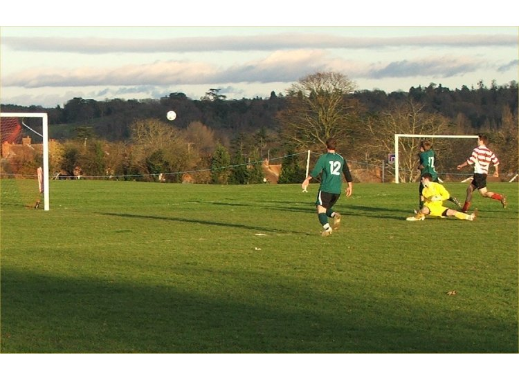 Louis scores against Sandhurst Devels
