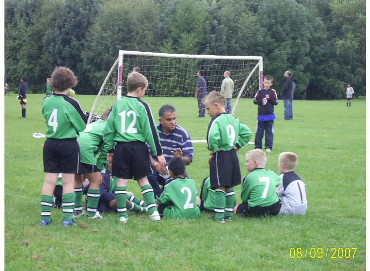 Managers half-time team talk