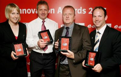 Russell Shreeves and Pete Henrickson receive FA National Innovation Award for Futsal 2007