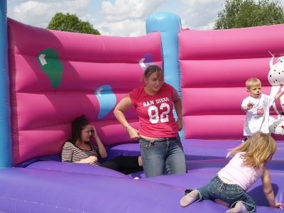 The big kids take a turn (Amy and Faye from the Circus day nursery)