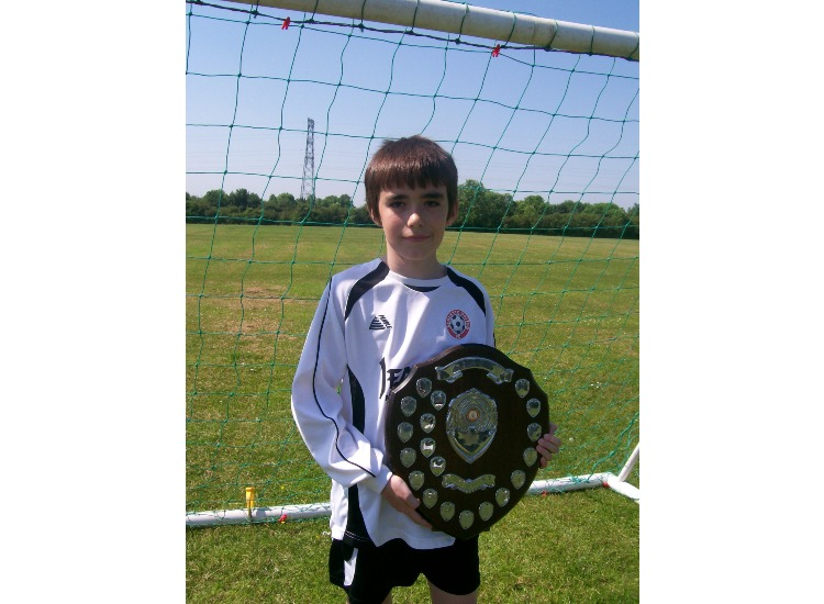 Daniel with BLUE League Winners Shield 2008-09
