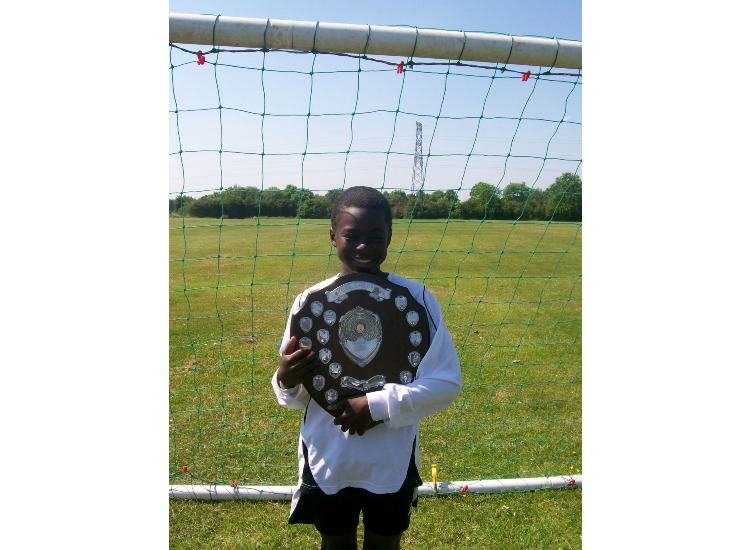 Kofi with BLUE League Winners Shield 2008-09
