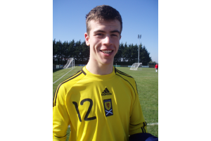 "A happy Scott after his ""clean sheet"" debut against the Auld Enemy"