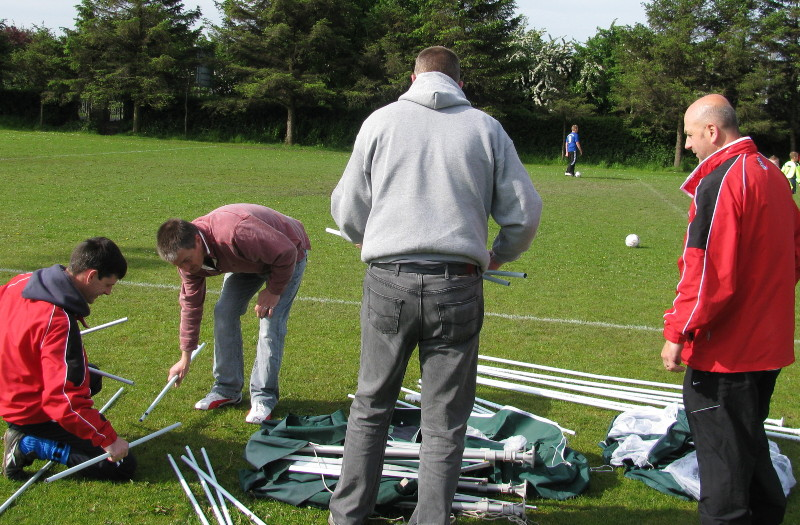 how many men does it take to put up a gazebo???