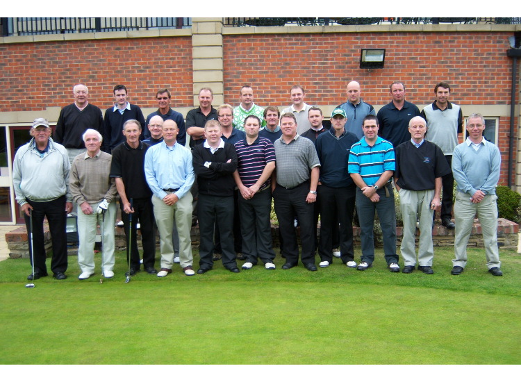 Is it The next Ryder cup team ? We wish !! No its the kind people associated with Barugh FC raising some funds for the club