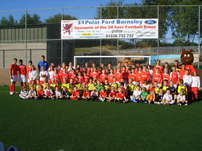 All the Barugh FC kids that took part in the 24 Hour football.