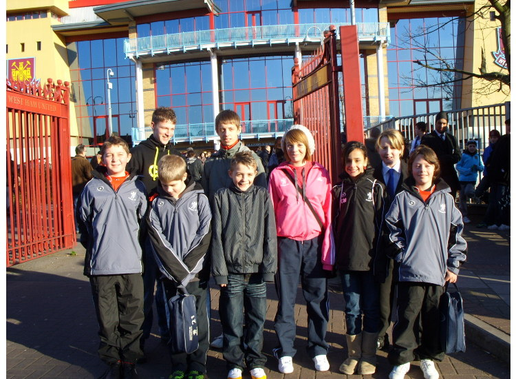 The kids outside Upton Park