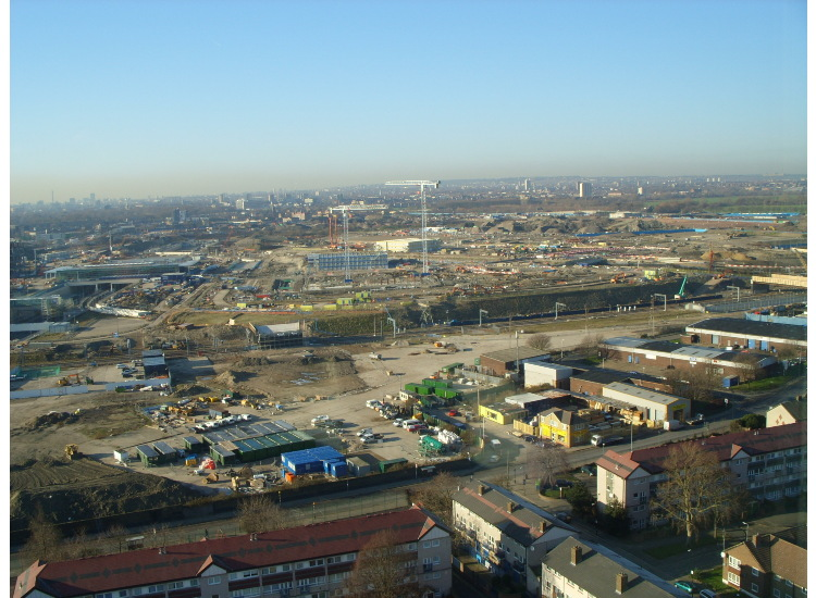 Views of Construction of the Olympic Village