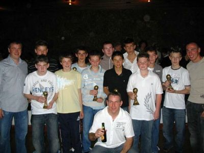 Bayside 93's with their trophies & Reido with his beer