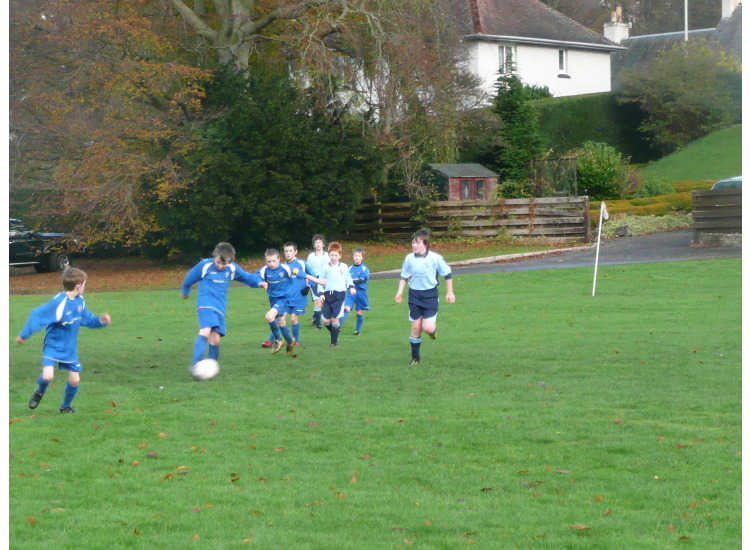 Craig, as Craig does best clearing the ball away - thumped up field