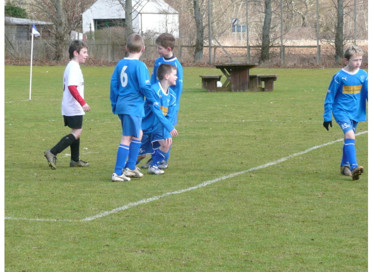 Breadalbane celebrate another goal.