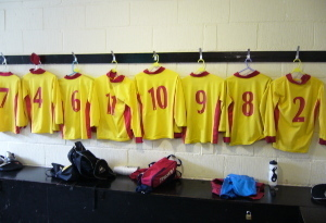 The U12A Team Changing Room