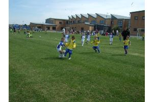 Liam D showing determination in the tackle!