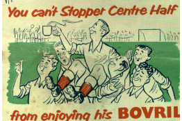 An advert from a 1950s match day programme.