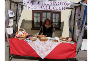 Sonya Lees on the cake stall