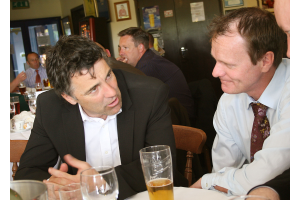 Former Team mates Francis Ford and Dean Saunders talk about their old Cardiff City Days.