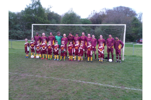 Team photo for 2nds &U8's - 3