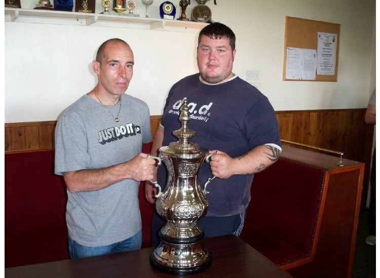 THE BLOKE &amp; WELLS WITH THE F.A CUP