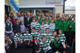 Celtic players of all ages enjoy the opening day at Club sponsors Nisa