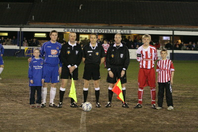 The mascots we provided for the Stoke City game Jan 2007.