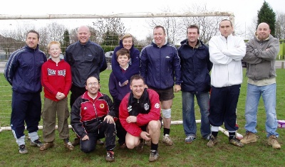 Parents, brothers uncles, etc.  before the adults v kids game which kids won 7-6