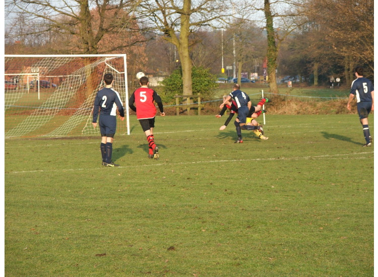 Scott Allen&amp;#39;s diving header at Sandhurst