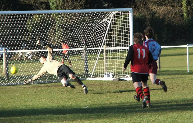 Louis Shepherd scores at Taplow