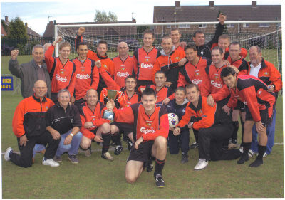 THE BOYS CELEBRATE WINNING THE LEAGUE 2006/07