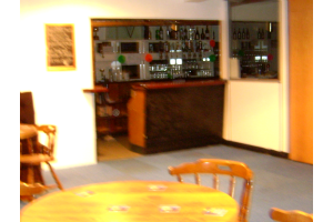 The small bar in the Steve Clark Lounge.