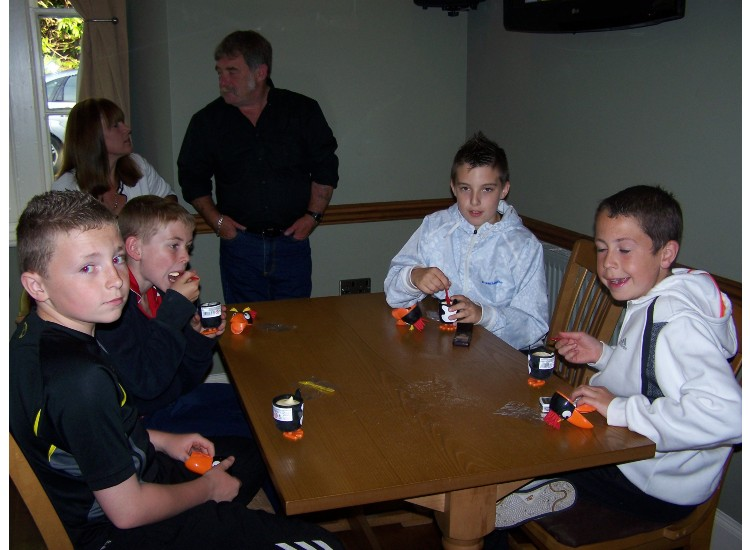 Ryan Evans, Aron Griffith, Shane Firth and Gwion Thomas (U12s)