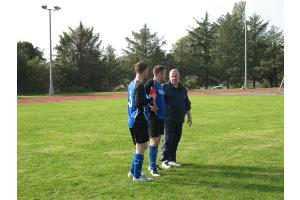 Captain talks tactics with Manager