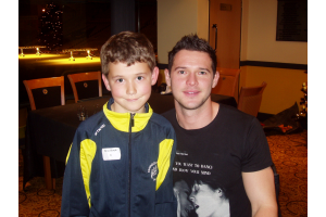 Phil with his favorite Wolves player, Matty Jarvis