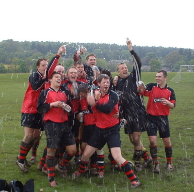 1st Team claim the Hope Valley League Premier Division May 2004
