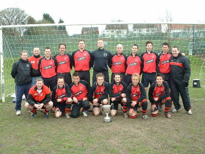 1st Team lift the Derbyshire Divisional Cup - April 2005