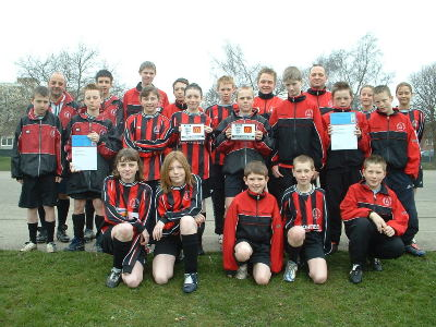 Dronfield Town FC awarded FA Charter Standard Club and FA Charter Standard Adult Club awards - February 2005