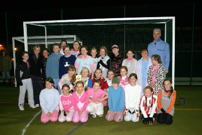 U11&amp;#39;s &amp; U12&amp;#39;s Girls raise 320 for Children in Need 2007 with a pyjama game of football!