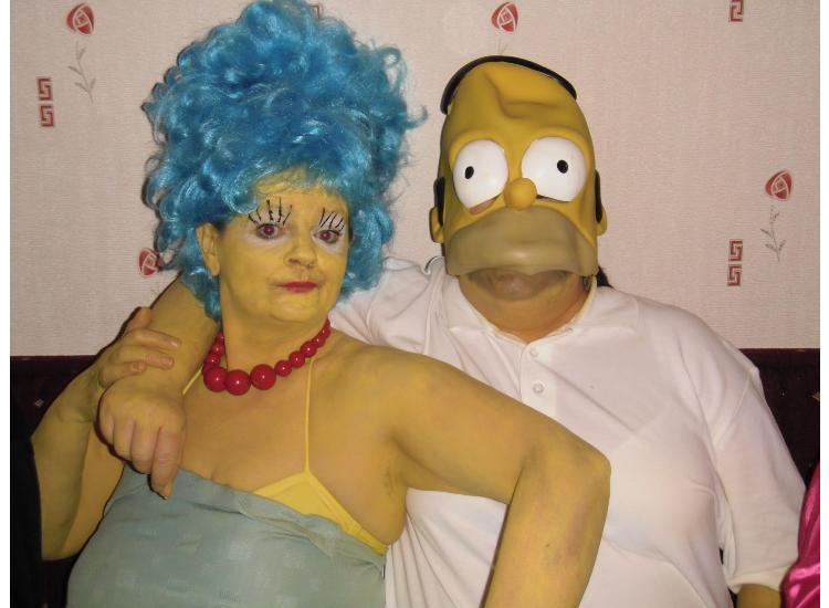 Homer and Marge take one