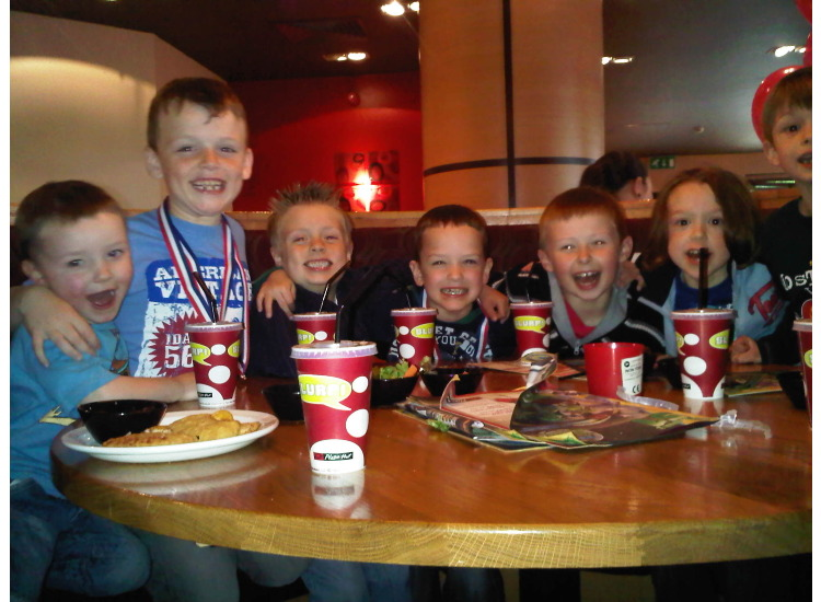 Pizza Hut Party after the Magpies first Match