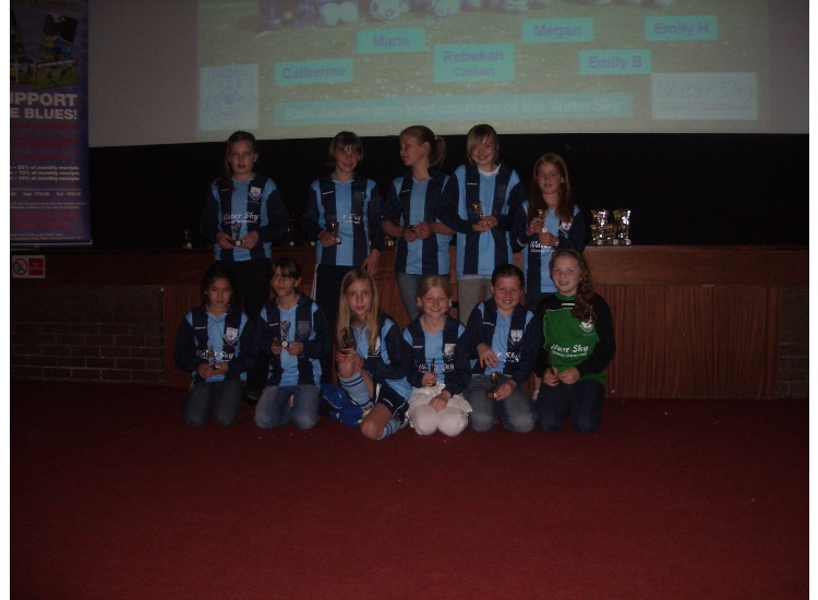 U11 Squad with their Participation Awards