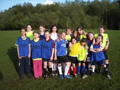 Girls at training 2007/8 season