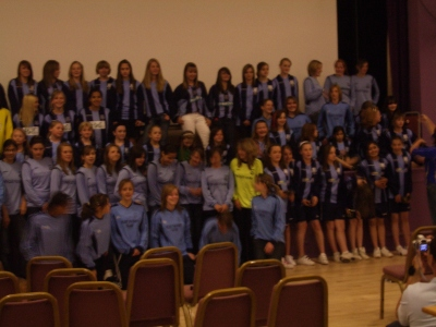 All the Fleet Girls teams attended a joint 2007/8 season presentation evening at the Harlington Centre