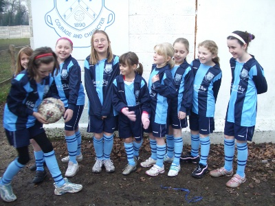 The girls were mascots at Fleet Town for their league game against Abingdon in December 2007