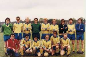 Fryston side v. Leeds United XI Friendly 1979