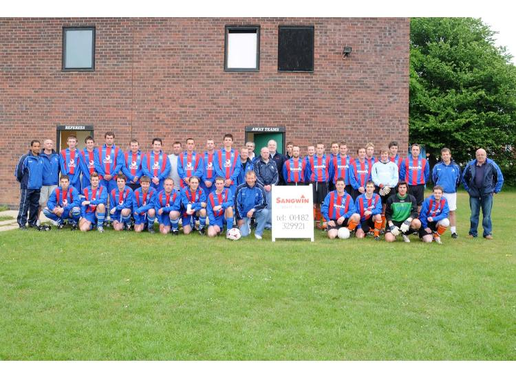 Hedon Rangers and Hedon Rangers Reserves in the South Holderness Cup Final