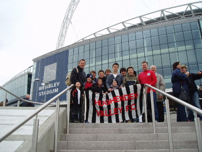 HVFC on tour - THE FIRST EVER GAME AT THE NEW WEMBLEY