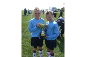 players of the tournament Alfie and David