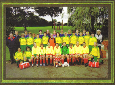 Kettering Town Ladies FC circa 1998, or as they were known then Kettering Amazons