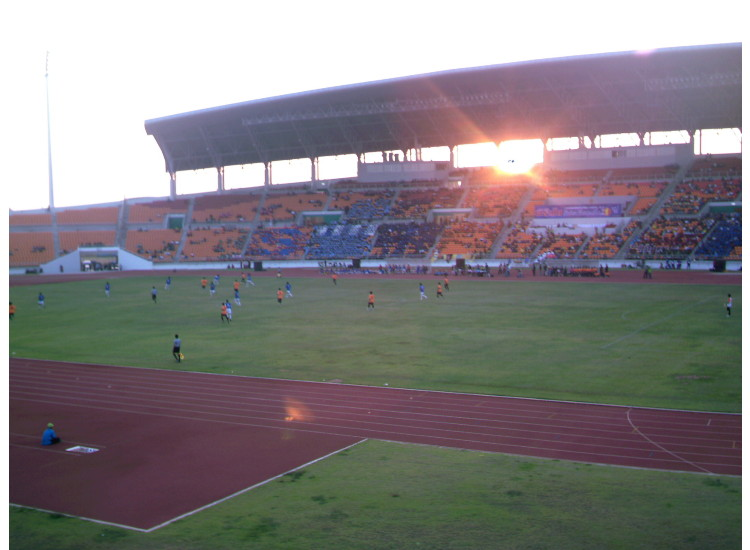 THE SUN SETS BEHIND THE MAIN STAND