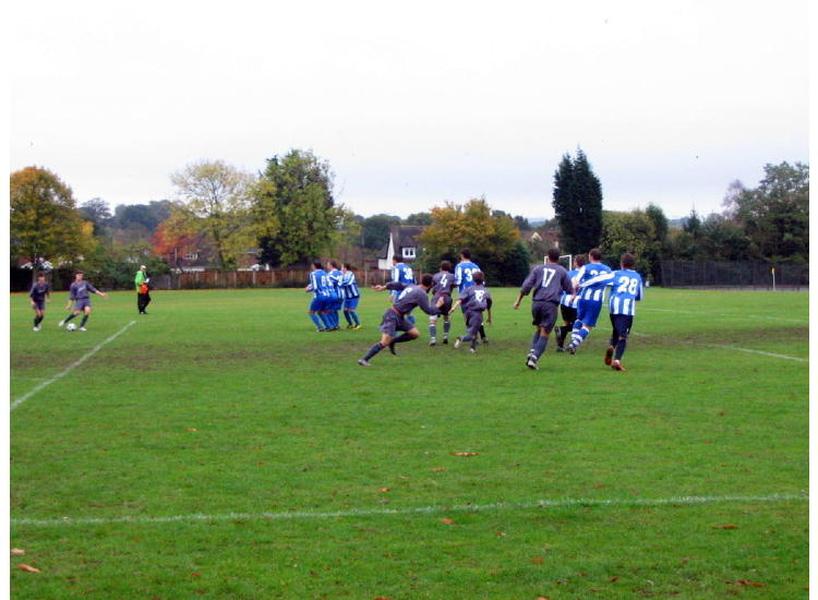 Greg swings a free-kick in