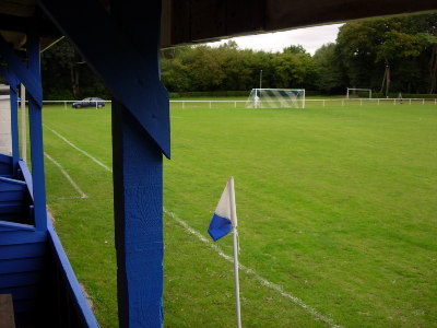 VIEW OF BOTTOM GOAL FROM INSIDE THE STAND